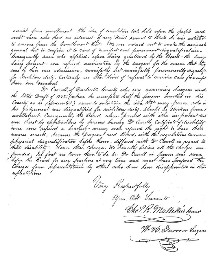 Letter To President Lincoln Exonerating Colonel Leonard As Provost Marshal Page 2