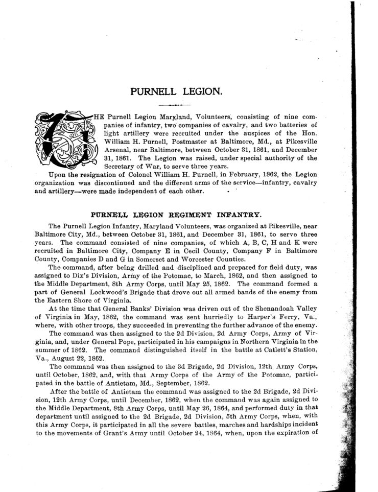 Page 2 Of History And Roster Of Maryland Volunteers, War Of 1861-5