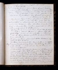 The first page of Franklin Dick's Journal Photo Credit: R. L. Geyer