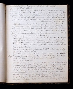 The First Page Of The Franklin Dick's Journal