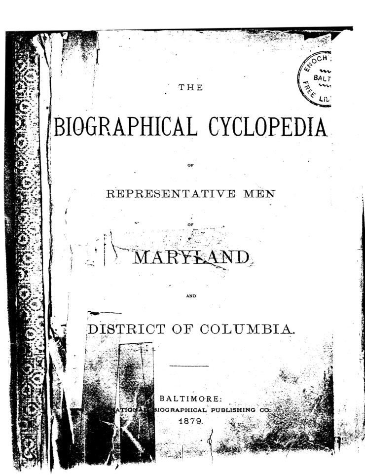 Title Page Of The Biographical Cyclopedia 1879